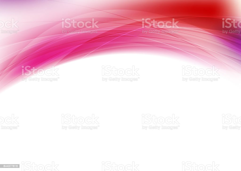 Red and purple abstract wavy background vector art illustration