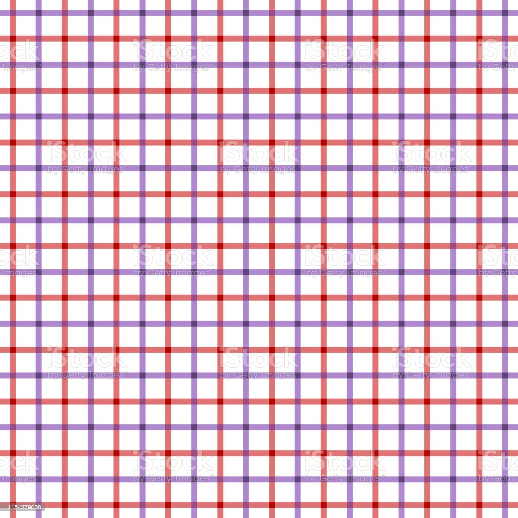 Red and purple tattersall check pattern. Men\'s shirt fashion textile...