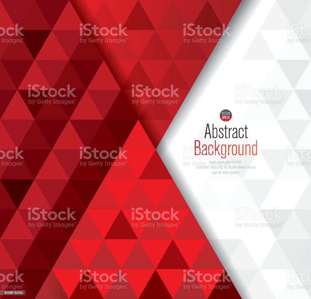 Red and white abstract background vector. vector art illustration