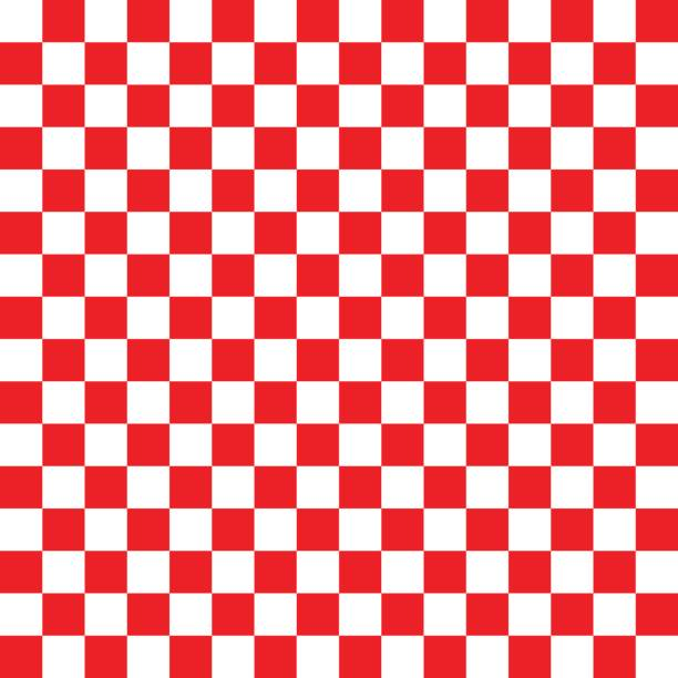 red and white checkered background - checked pattern stock illustrations
