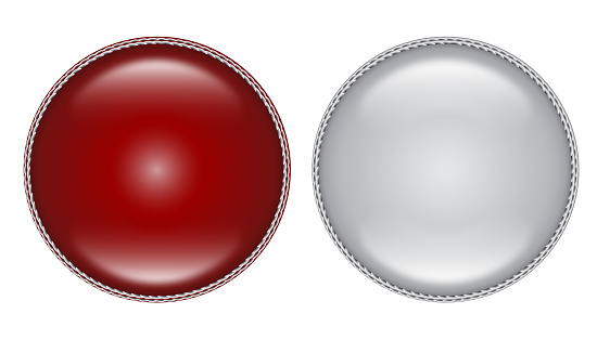 Red and White Cricket Ball