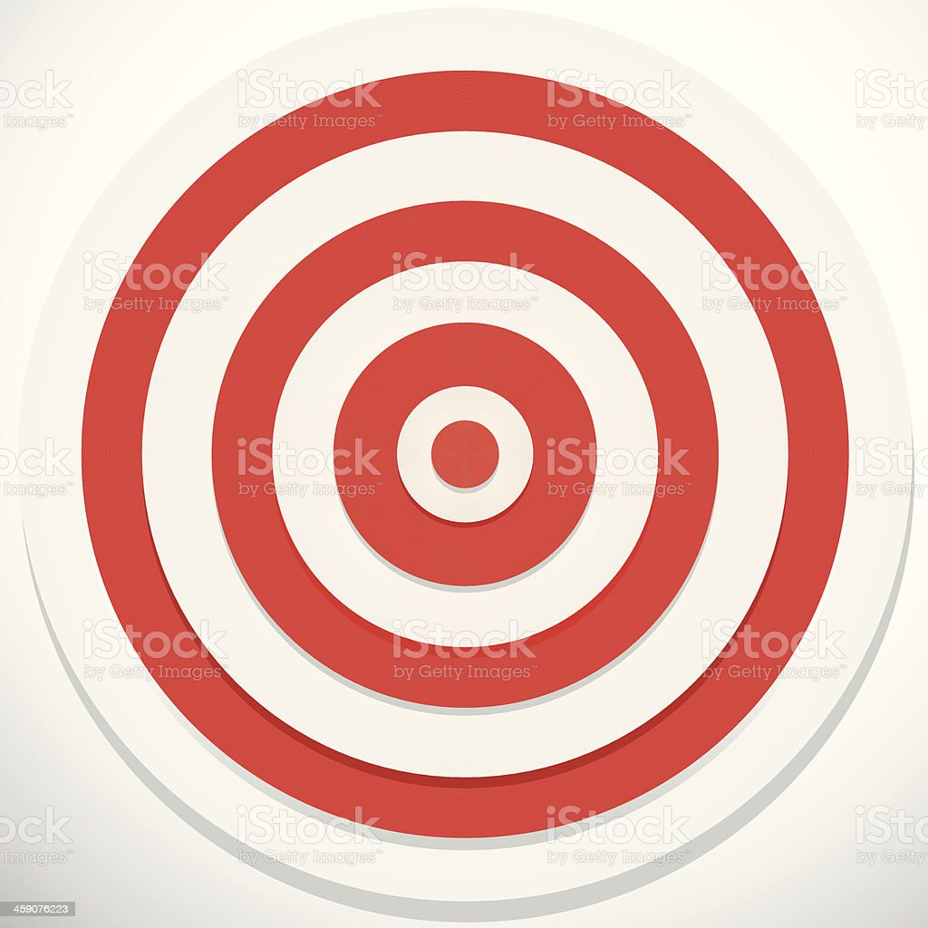Red and White darts target royalty-free stock vector art