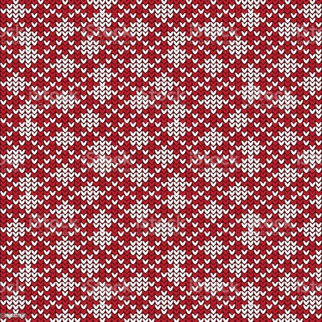 Red And White Diagonal Striped With Diamond Shape Knitting Pattern ...