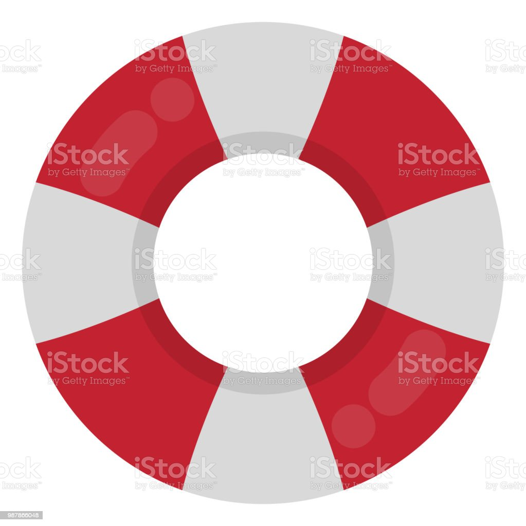 Red and White Ring Float vector art illustration