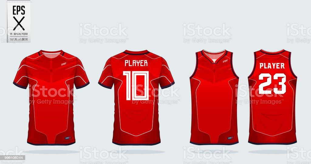Listra vermelha e branca camiseta esporte modelo de design para a camisa de  futebol f49e8100029c8