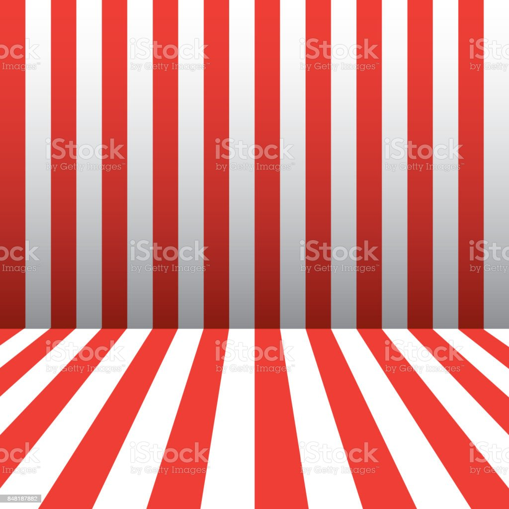 Red and white stripes Patriotic wallpaper - Illustration .