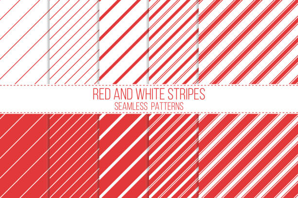 Red and White Striped Border: Clip Art, Page Border, and Vector Graphics