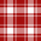 Red and white traditional tartan plaid seamless pattern background.