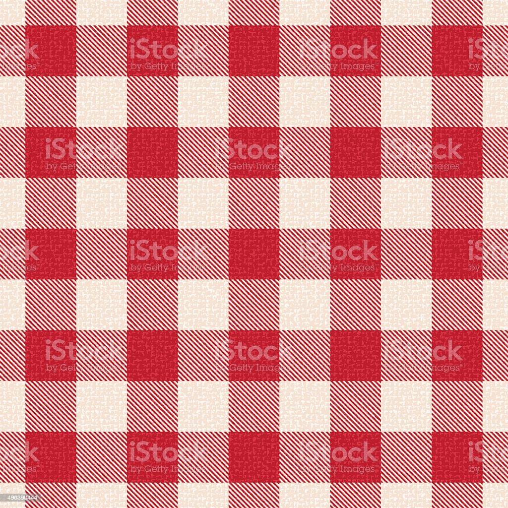Rosso E Bianco A Quadri A Effetto Texture Vettoriale Sfondo 1 Motivo