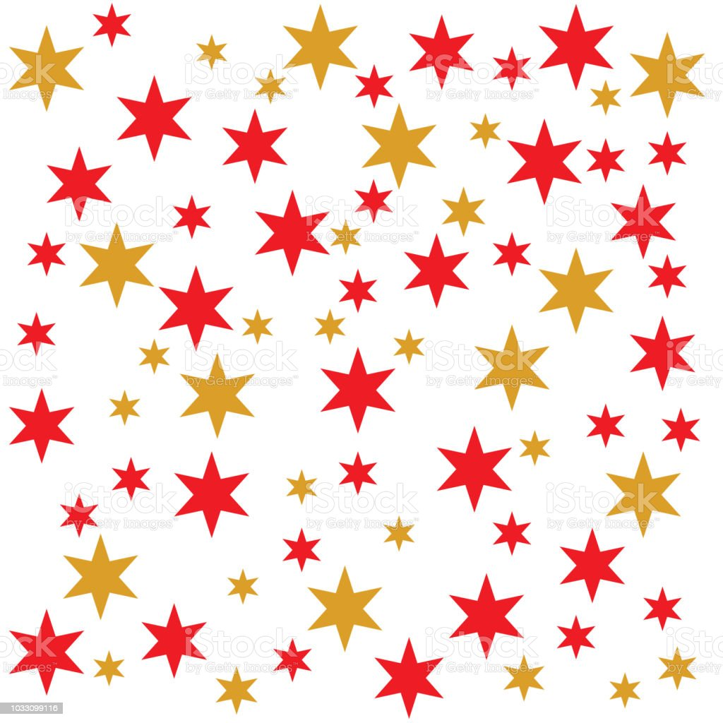red and yellow stars background vector art illustration