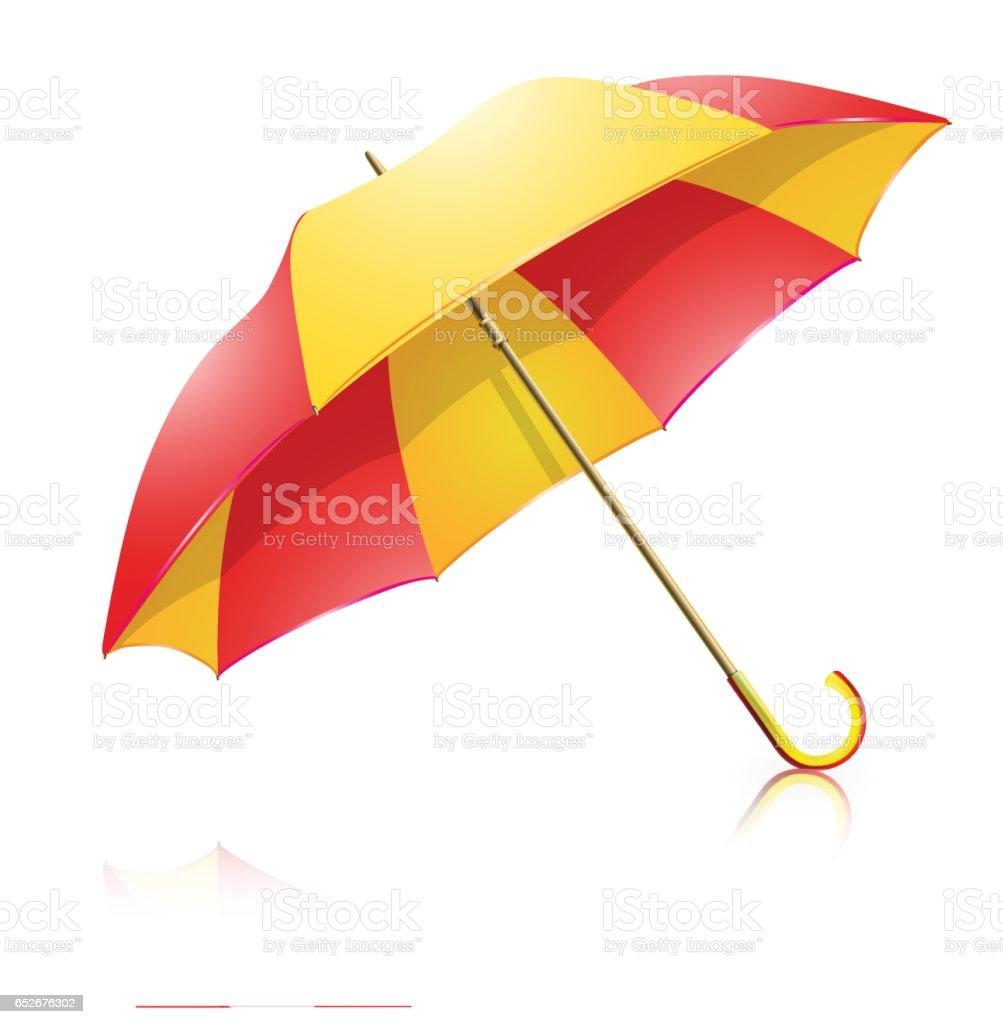 Ilustración de Paraguas Rojo Y Amarillo y más banco de imágenes de ...