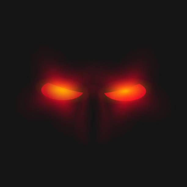 illustrazioni stock, clip art, cartoni animati e icone di tendenza di rosso arrabbiato occhi - malvagità
