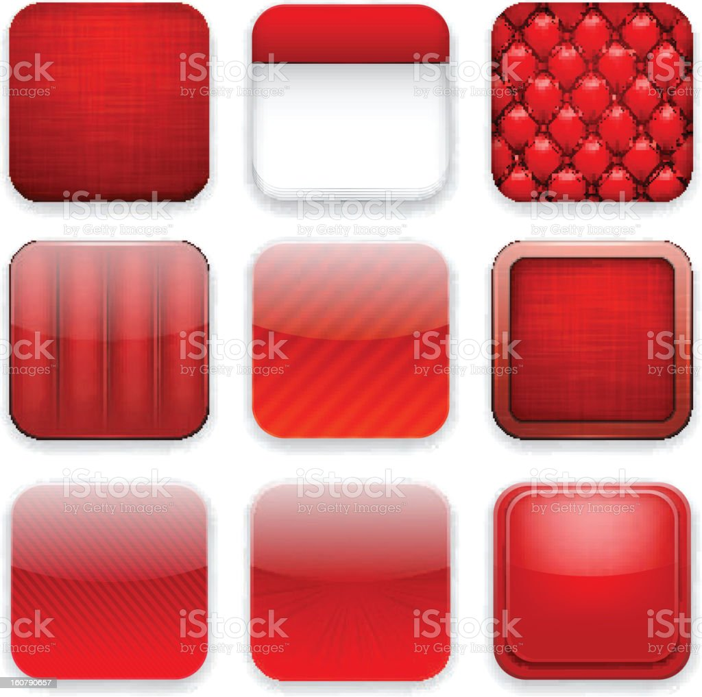 Red app icons. royalty-free red app icons stock vector art & more images of blank