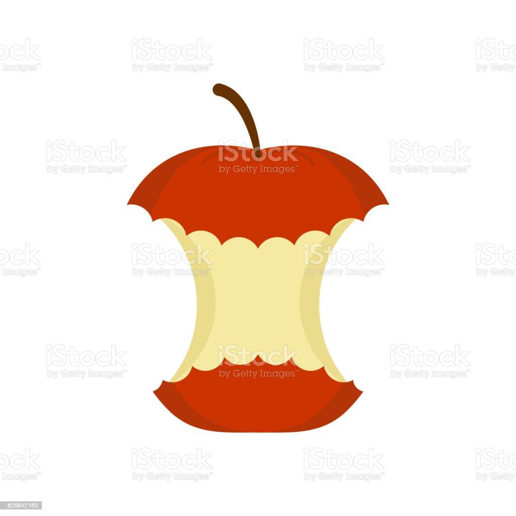 Roter Apfel Kern Isoliert Rest Der Frucht Auf Weißem Hintergrund ...