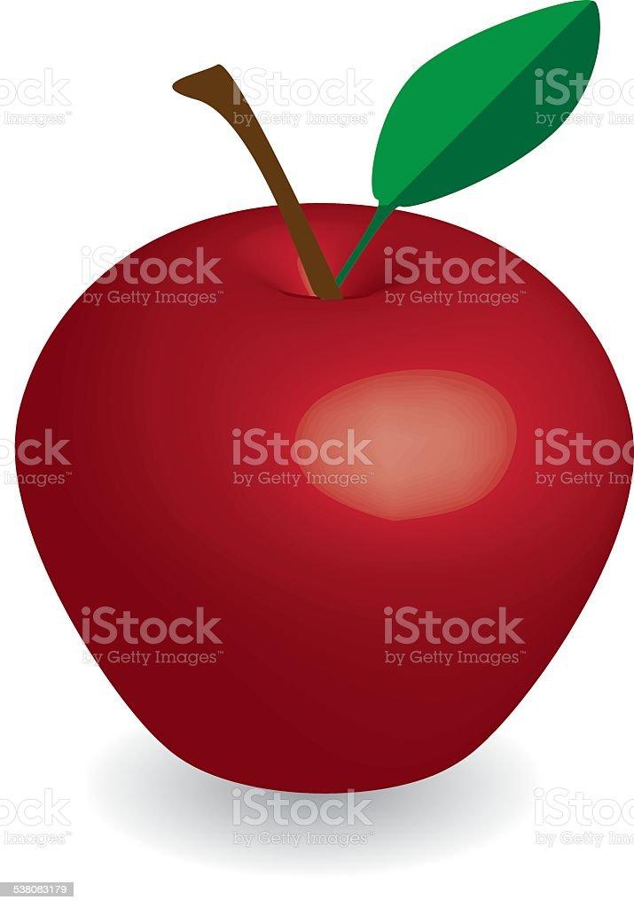 Mela Rossa Su Sfondo Bianco Rosso Mela Vettore Vettore Di Apple