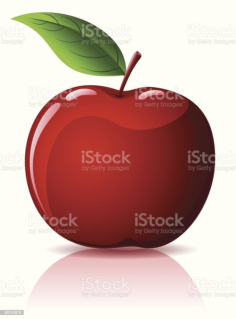 Red apple isolated on white royalty-free red apple isolated on white stock vector art & more images of apple - fruit