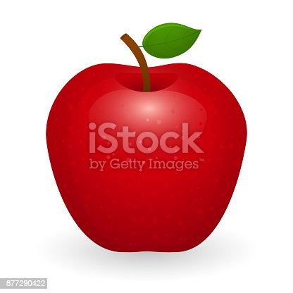 istock Red Apple Isolated 877290422