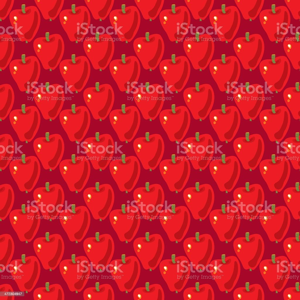 Red Apple Pattern royalty-free stock vector art