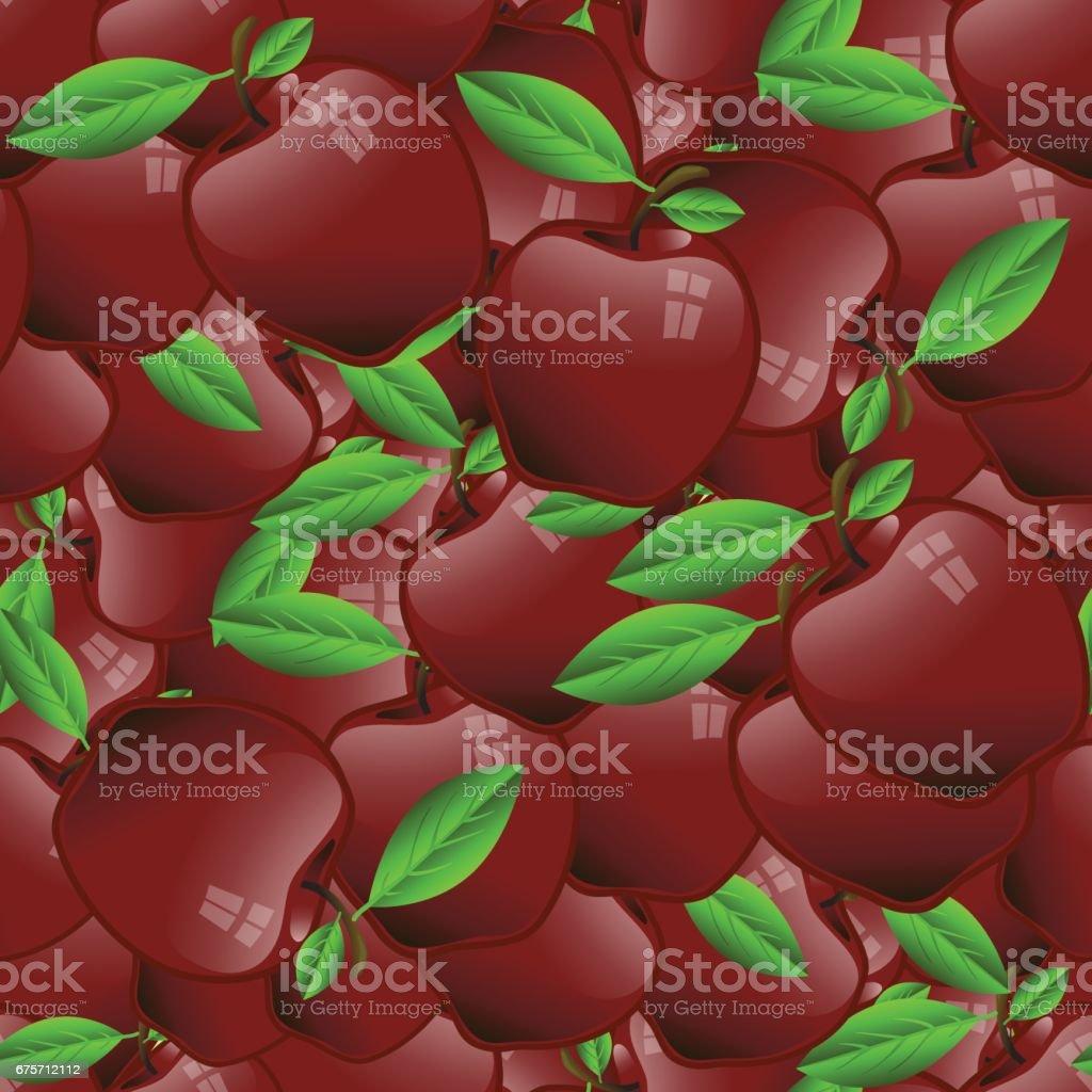 紅蘋果無縫模式 免版稅 紅蘋果無縫模式 向量插圖及更多 健保和醫療 圖片
