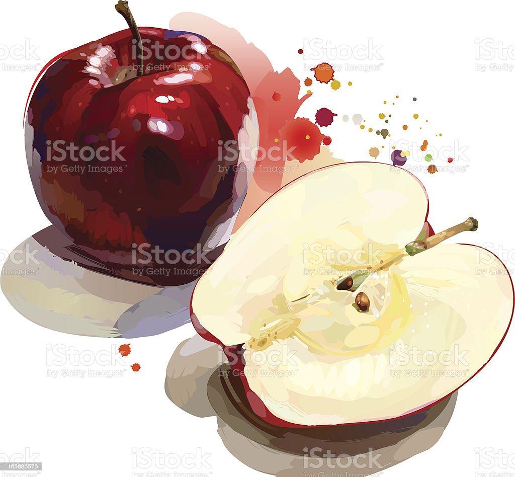 Roter Apfel – Vektorgrafik