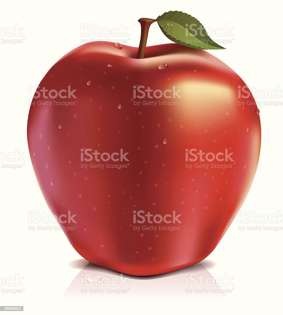 red apple royalty-free stock vector art