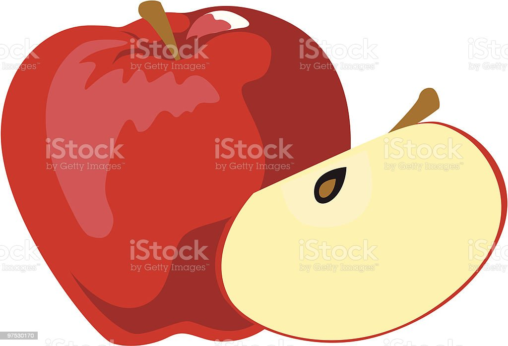 red apple royalty-free red apple stock vector art & more images of apple - fruit