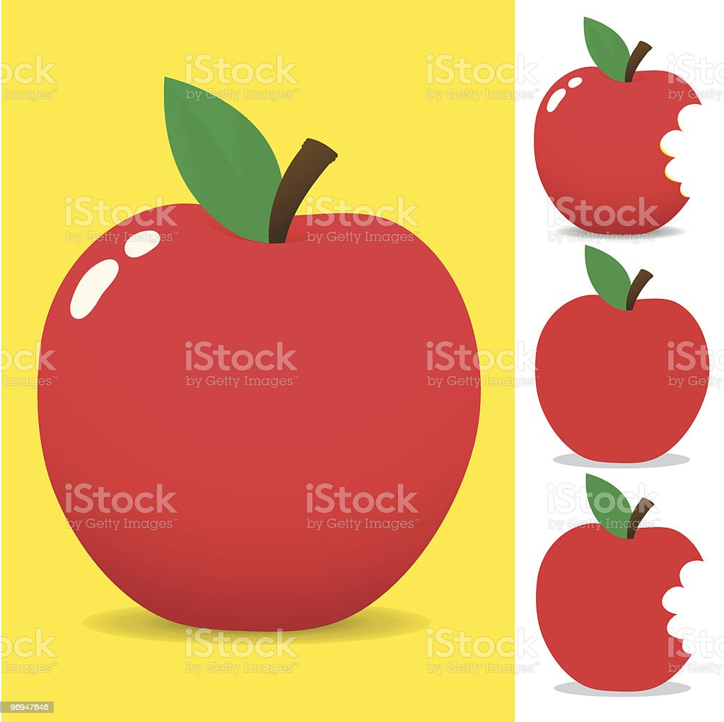 Red apple - vector royalty-free red apple vector stock vector art & more images of apple - fruit