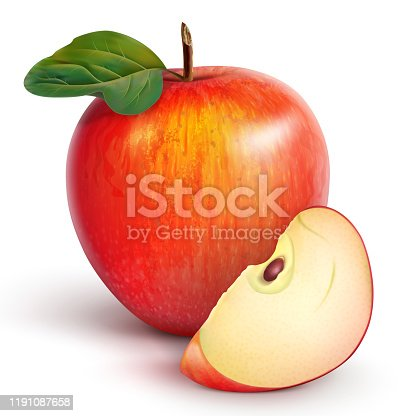 istock red apple with a slice 1191087658