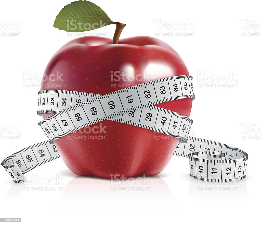 Red apple with measuring tape royalty-free red apple with measuring tape stock vector art & more images of apple - fruit