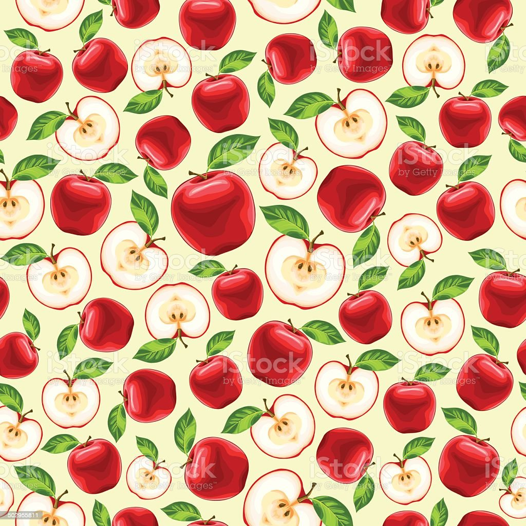 red apples seamless pattern royalty-free red apples seamless pattern stock vector art & more images of autumn