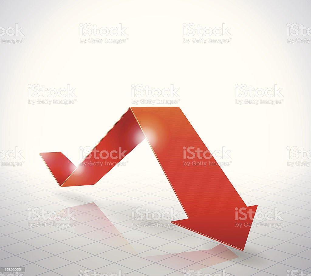 Red Arrow Graph vector art illustration