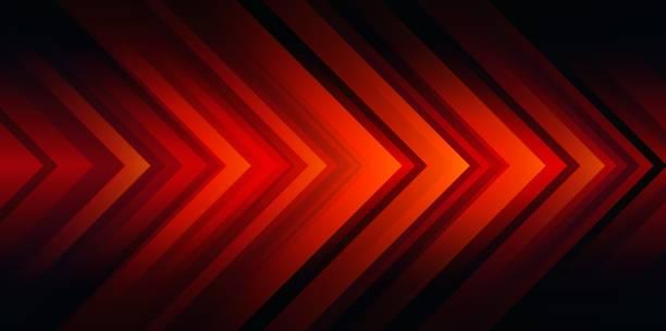 ilustrações de stock, clip art, desenhos animados e ícones de red arrow head abstract background - vr red background