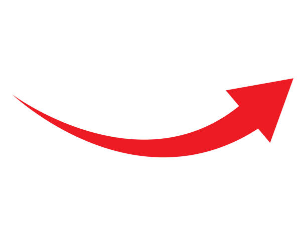 red arrow icon on white background. flat style. arrow icon for your web site design, logo, app, UI. arrow indicated the direction symbol. curved arrow sign. red arrow icon on white background. flat style. arrow icon for your web site design, logo, app, UI. arrow indicated the direction symbol. curved arrow sign. curve stock illustrations