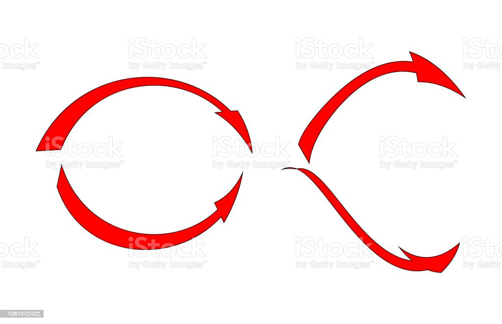 Red arrows set - Vector