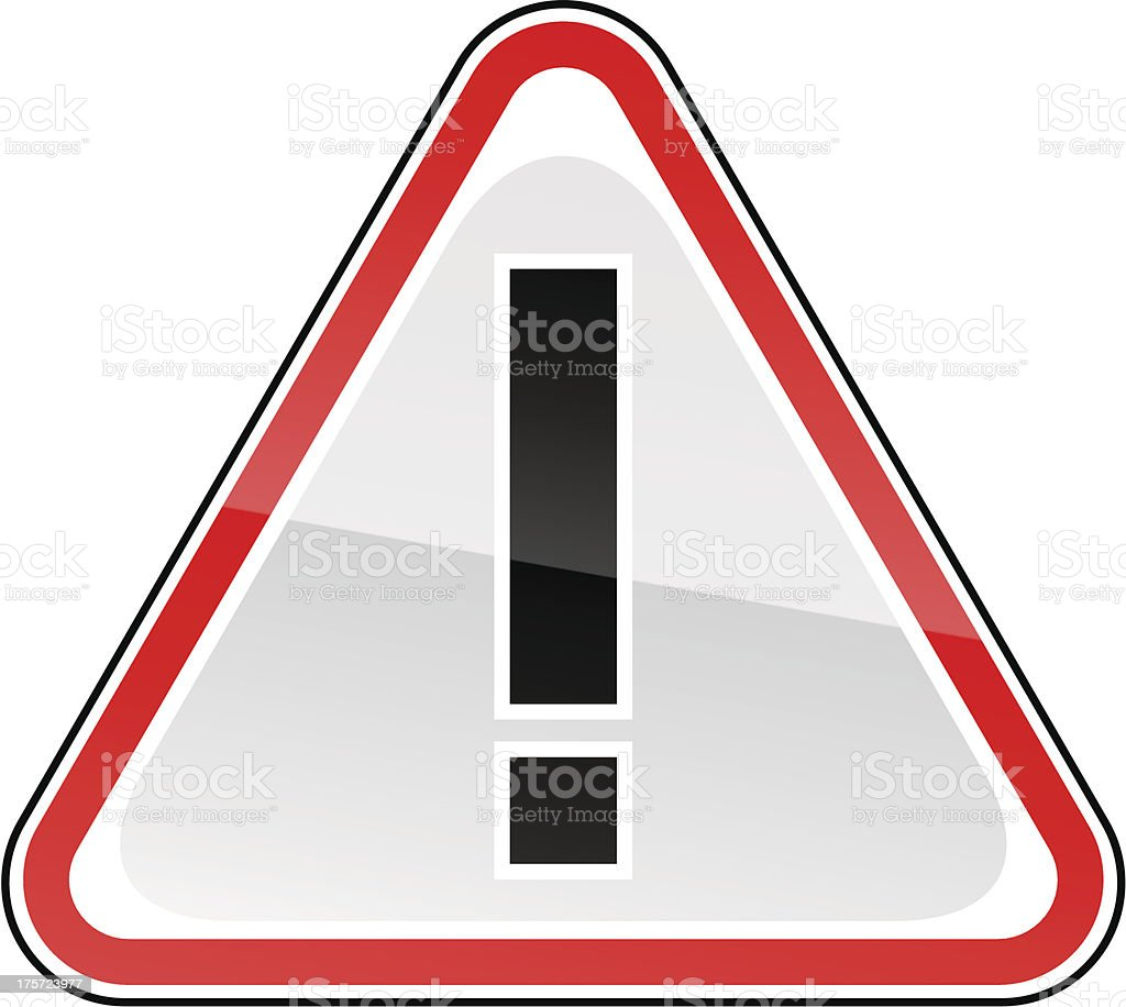 Red attention hazard warning sign exclamation mark pictogram triangular shape royalty-free red attention hazard warning sign exclamation mark pictogram triangular shape stock vector art & more images of advice