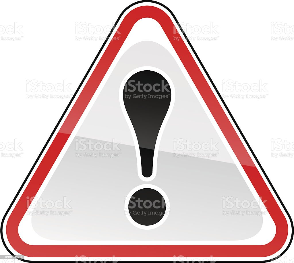 Red attention sign black exclamation mark pictogram warning triangular shape royalty-free red attention sign black exclamation mark pictogram warning triangular shape stock vector art & more images of advice