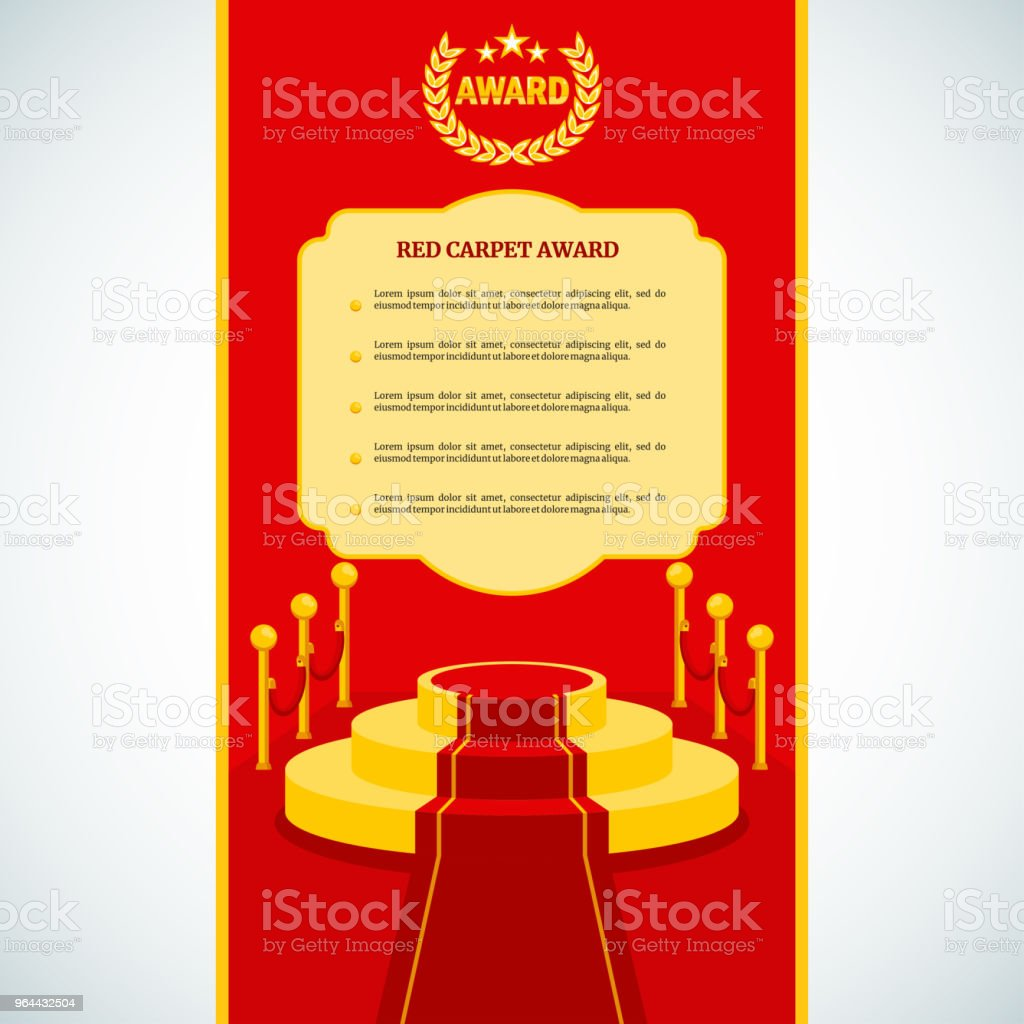 red award carpet vector art illustration