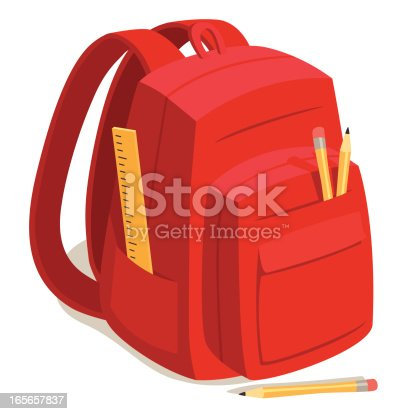 Red Back to School Backpack
