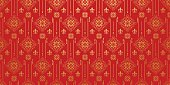 Red background. Chinese and Japanese style. Vector