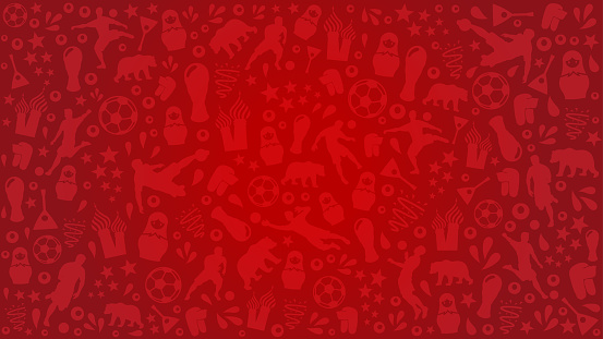 Red background football 2018 russia competition, red pattern