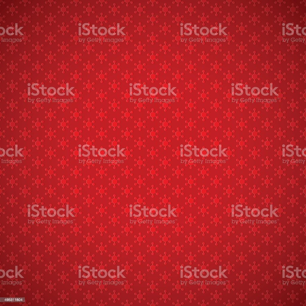 Red background of seamless pattern with snowflakes vector art illustration
