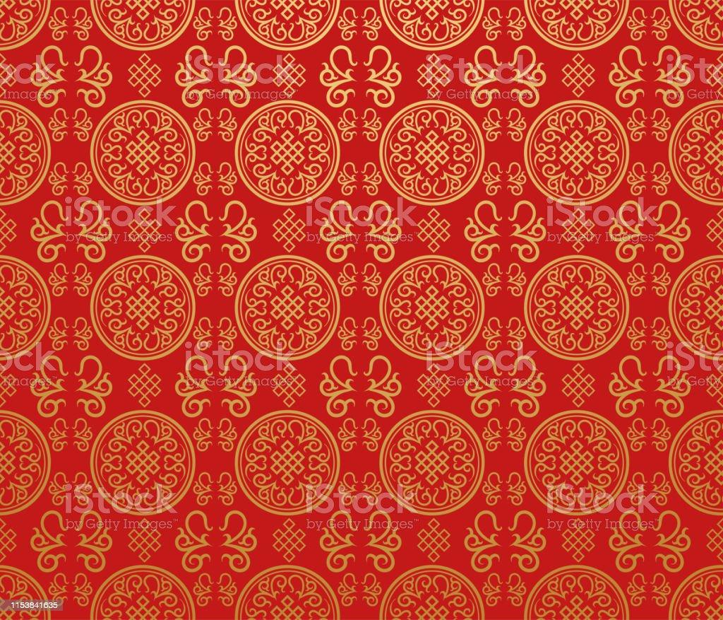 赤の背景パターンテクスチャの壁紙アジアンスタイル アジア大陸のベクターアート素材や画像を多数ご用意 Istock