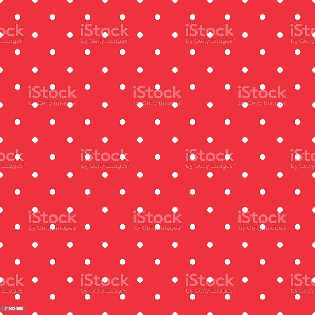 Rosso Sfondo Tessuto Bianco Piccoli Pois Con Motivo A Pois Senza