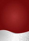 red and silver background with chequered pattern