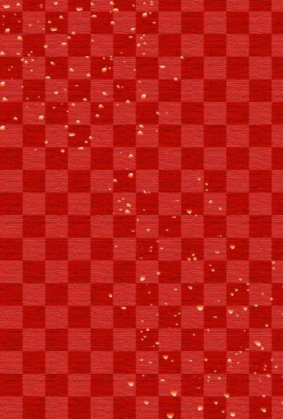 赤い背景 - 正月点のイラスト素材/クリップアート素材/マンガ素材/アイコン素材