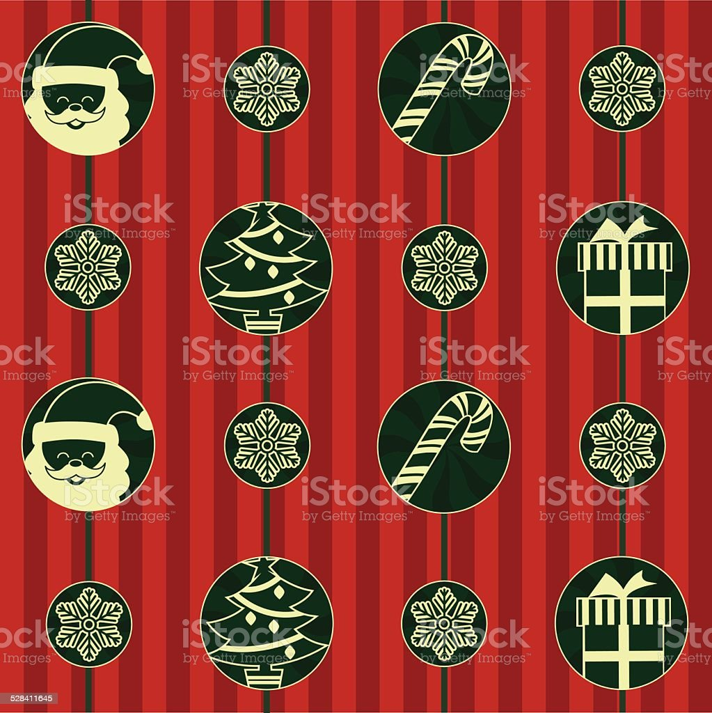 Red background with Christmas symbols royalty-free red background with christmas symbols stock vector art & more images of backgrounds