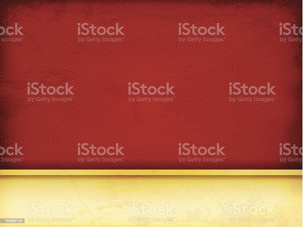 Red Background with golden banner royalty-free stock vector art