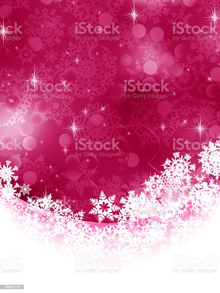 Red background with snowflakes. EPS 8 royalty-free stock vector art