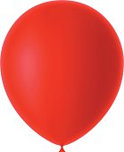 Red Balloon on white background.