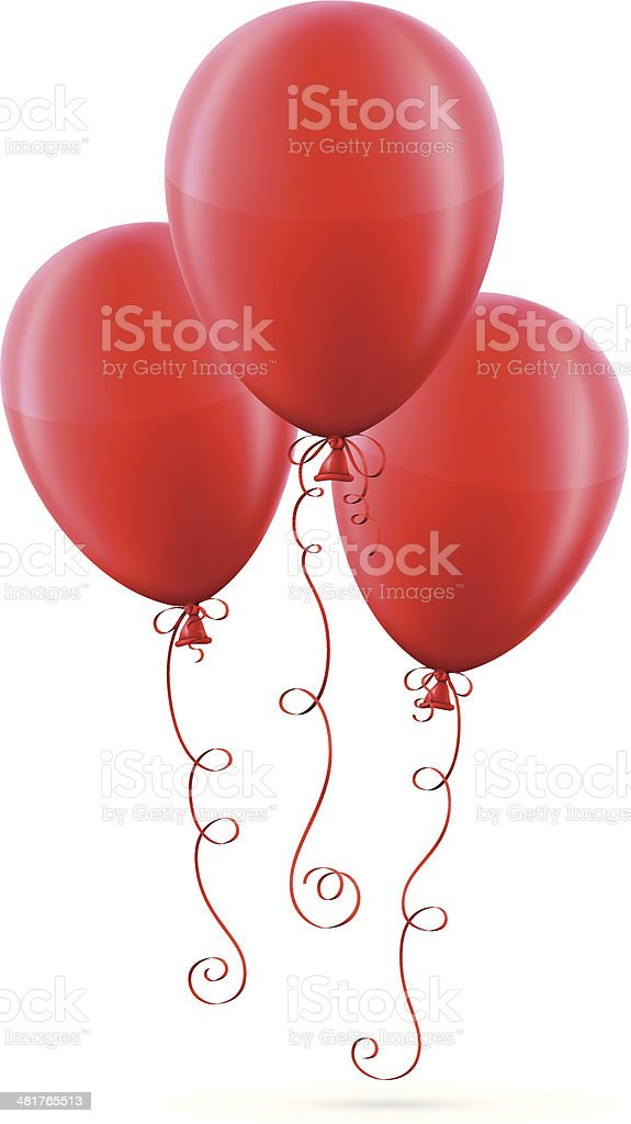 Red Balloons royalty-free stock vector art